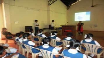 As part of the world space week celebrations 2018 a lecture program was held at APS. Ms. Lavanya an resource person from Vikram Sarabhai Space Centre (VSSC) gave lecture on space related topics and interacted with students