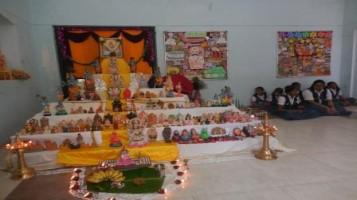 Navarathri Pooja celebrated with Bommai kolu and bajans