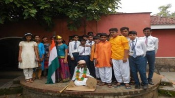 Gandhi Jayanthi Celebration at Ahalia Public School