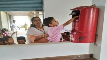 KG Students visited Post Office
