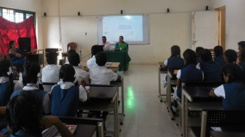 Session about Endosulphan victims: Dr. Padmanabhan has delivered an interactive session for senior secondary students about Endosulphan victims.