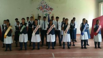 Investiture ceremony: New school leader and house leaders took charge. District Police Chief, Mr. Shiva Vikram (IPS) was the chief guest. He addressed students and emphasized the value of discipline & responsibility in life.