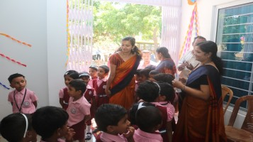 Classes for LKG started at Early Learning Centre on june 10