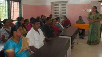 Meeting for Class X students' parents giving awareness about two levels of Mathematics for the CBSE board examination.