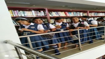 Reading day celebrated. In connection with this students went District Library, Palakkad