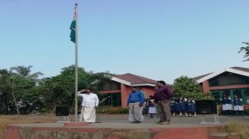 Republic Day Celebration. Flag Hoisting was done by Sri. Ajith Prasad Sir.
