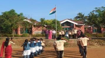 Republic day celebration held at Ahalia Public School