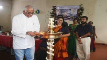 "Science Exhibition ""Pradyot 2019"" Inauguration Function, Chief Guest was Sri. Narayanan Unny P., Chairman, Navara Foundation"