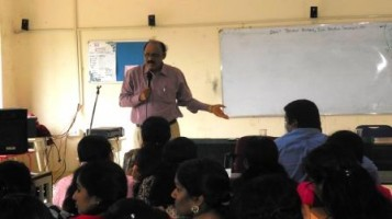Training session for teachers on the topic academic excellence by Dr. Mahadevan Pillai