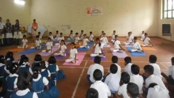 Yoga & Music Day held at Ahalia Public School