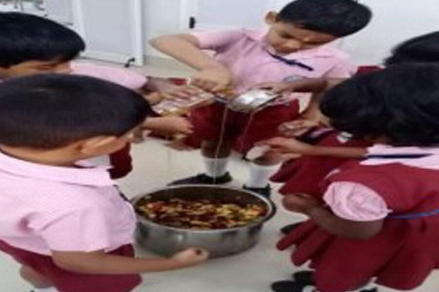 KG Fruit Salad Day at Ahalia Public School